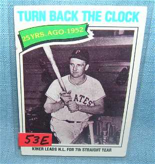 Ralph Kiner 3d Baseball Card