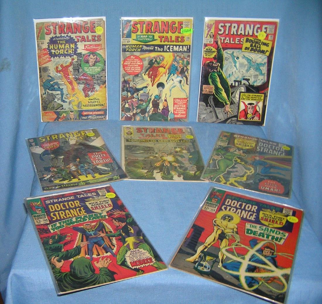 Collection of early Strange Tales comic books