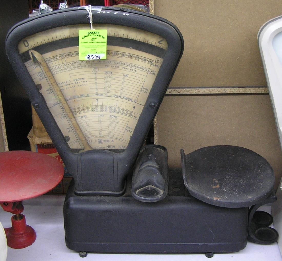 Antique cast iron postal scale - May 29, 2019 | Baker's