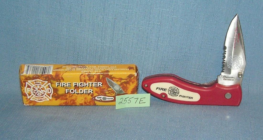 The fire fighter folding pocket knife
