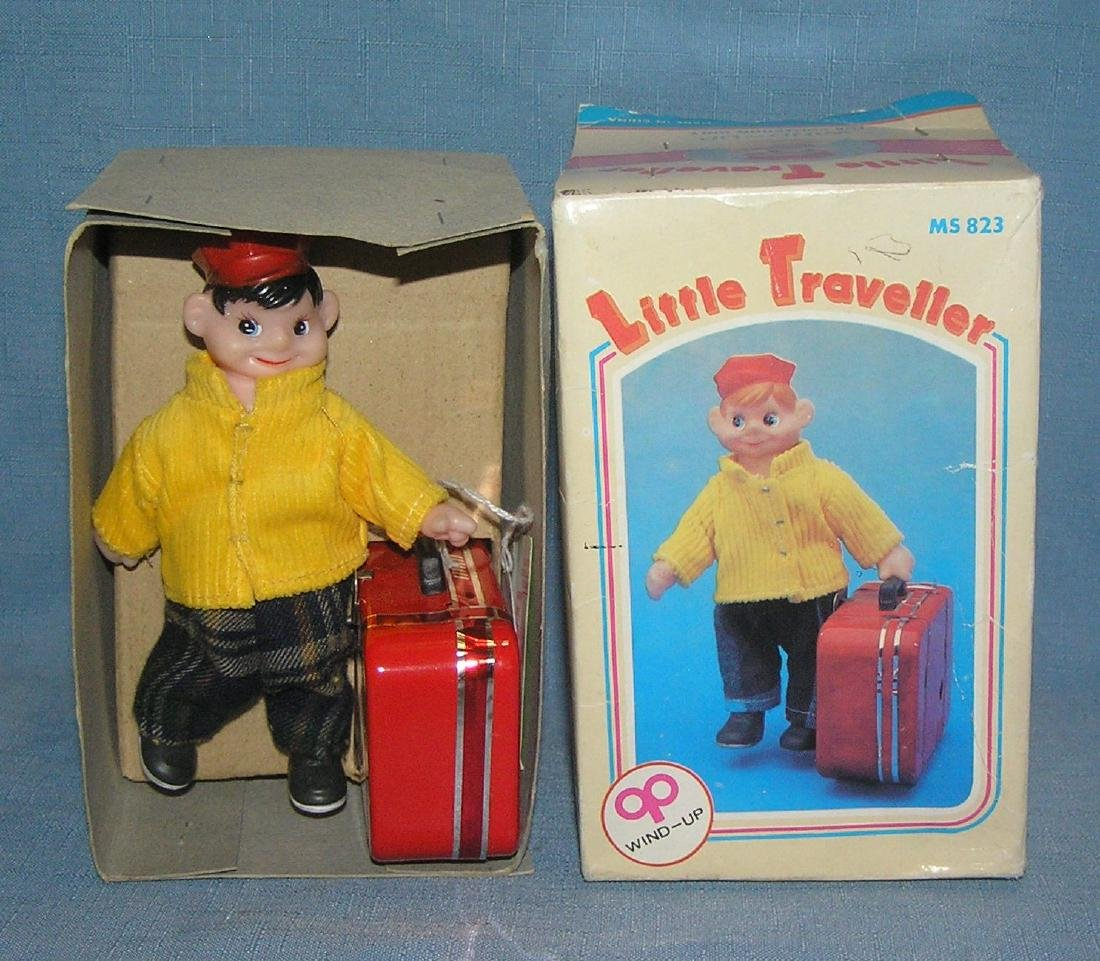 Great tin windup mechanicalanical Little Traveller toy