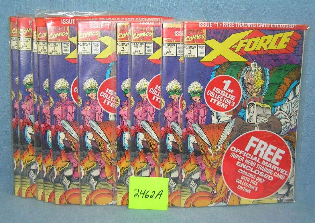Marvel Xforce first edition comic books