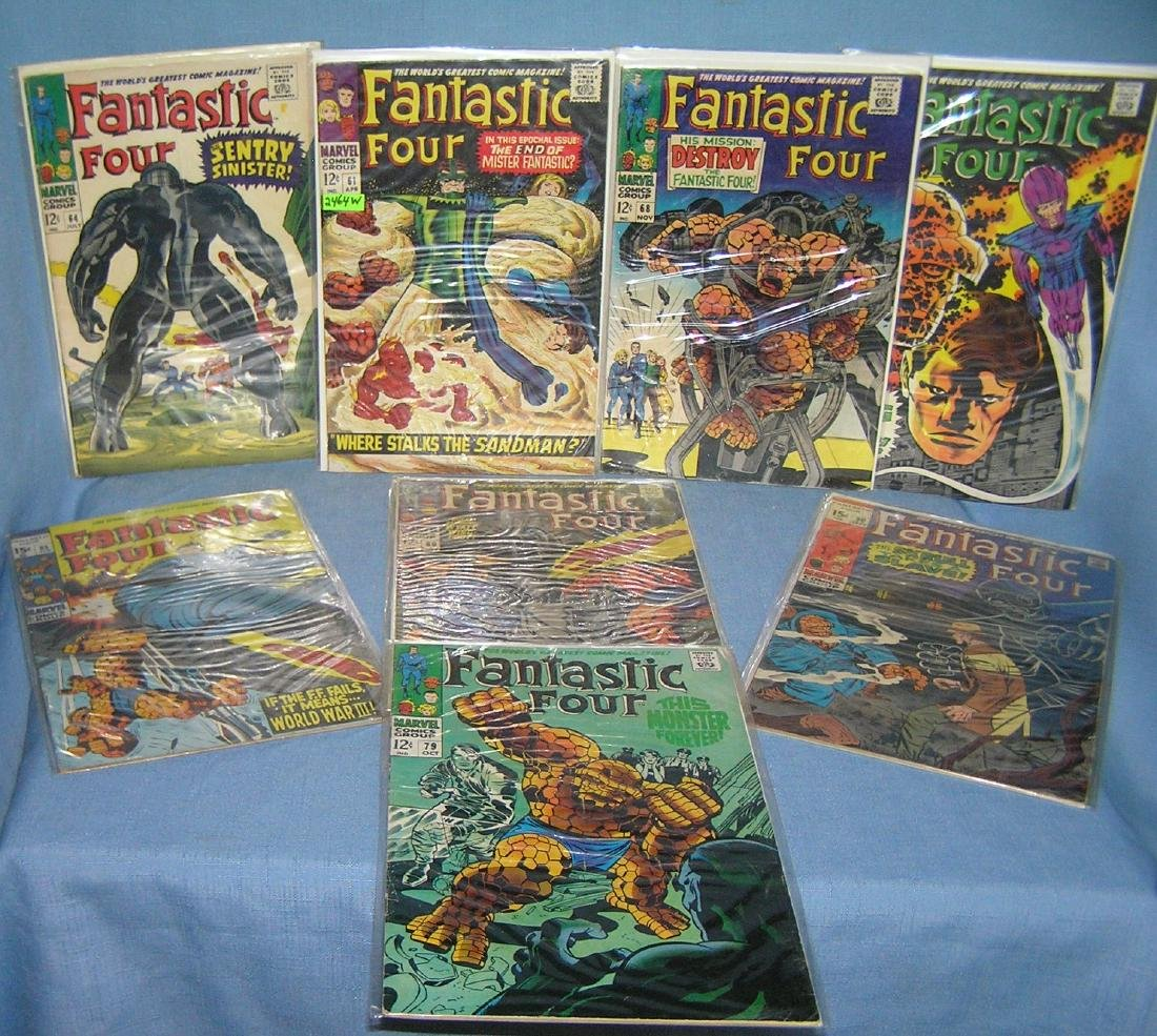 Great early collection of fantastic 4 comic books