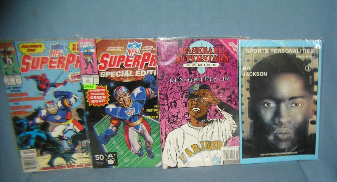 Group of 4 sport related comic books