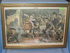 Antique political print circa late 19th century