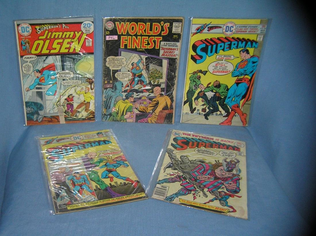 Group of early Superman related comic books