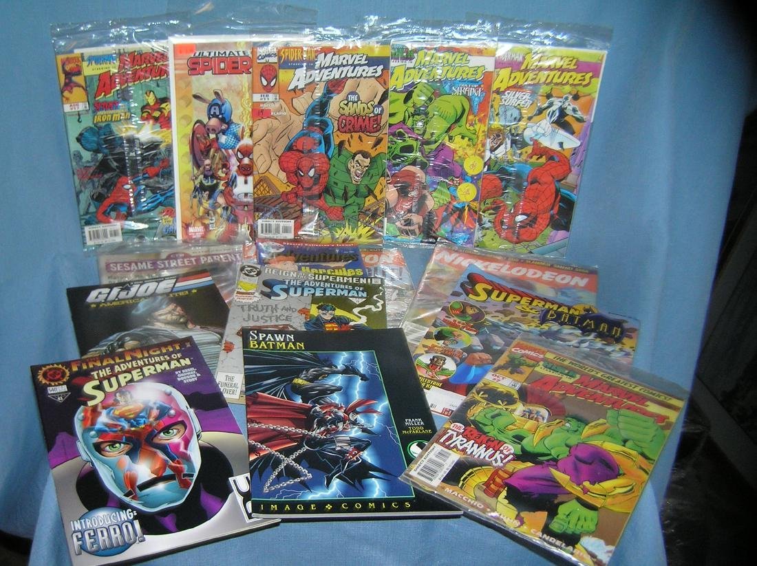 Vintage comic books and collector magazines