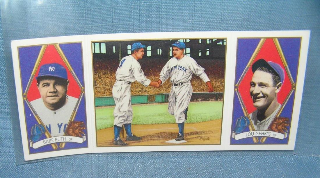 Babe Ruth and Lou Gehrig reprint baseball card