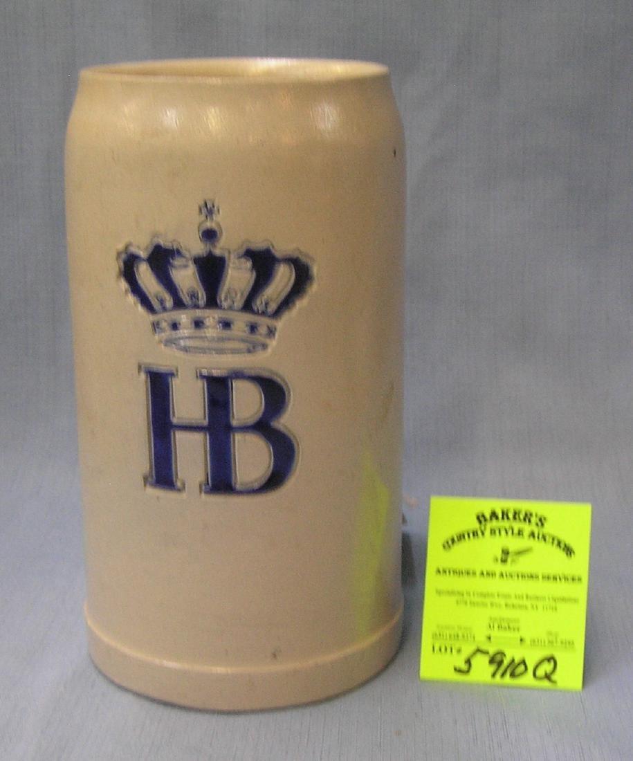 Vintage German H & B beer stein