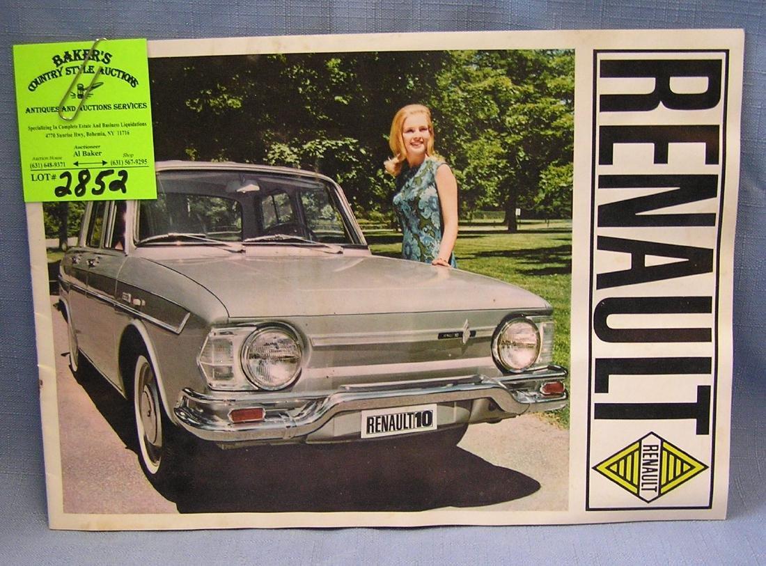 Vintage Renault automobile catalog