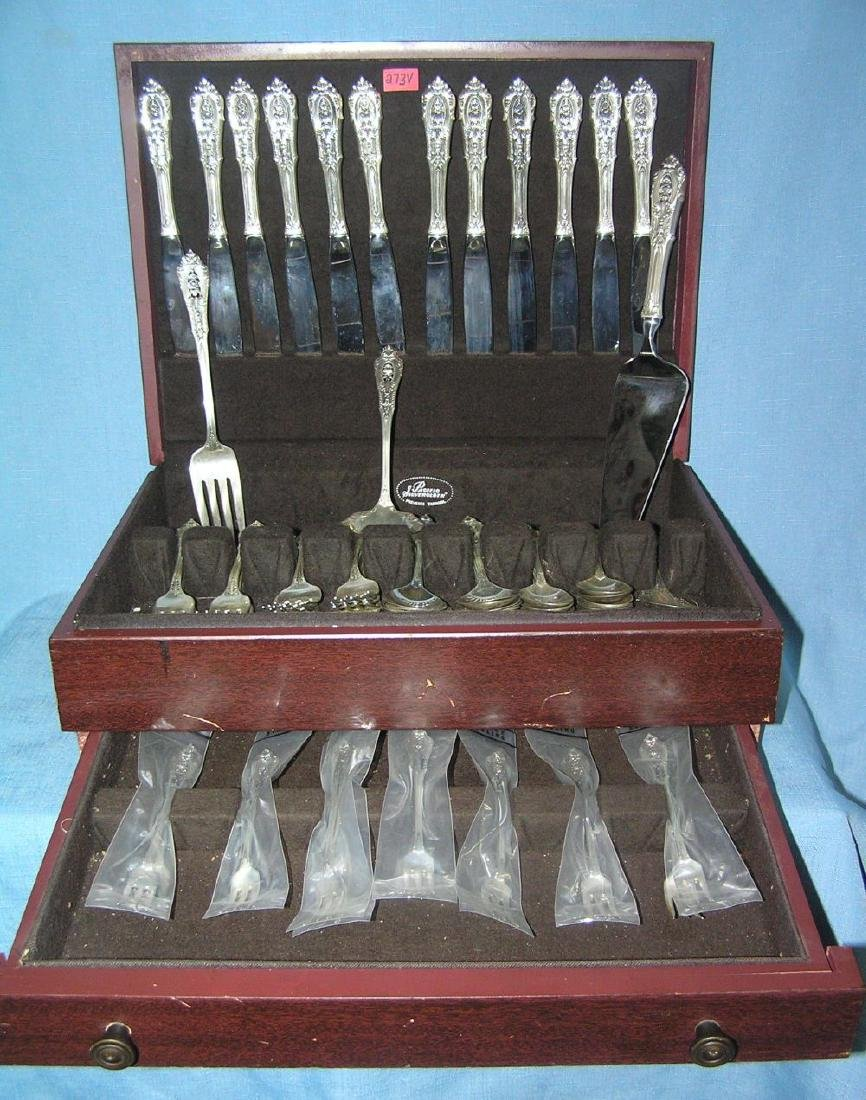 Wallace 76 piece sterling silver flatware set