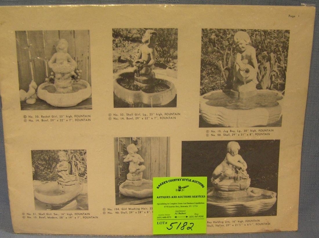 Vintage catalog of outdoor statuary, furn. and more