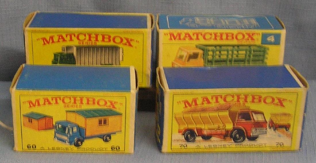 Group of four vintage Matchbox vehicles