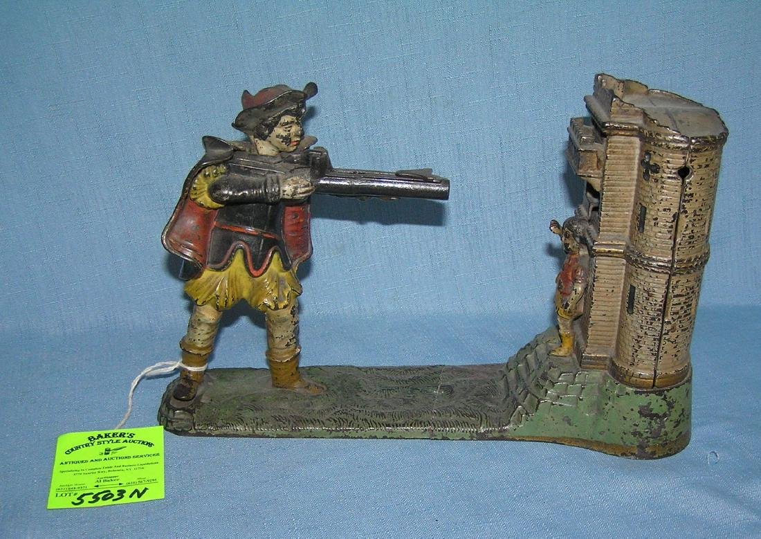 William Tell hand painted cast iron mechanical bank