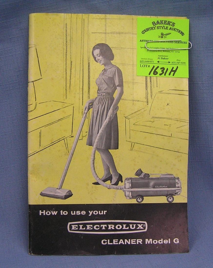 Vintage Electrolux vacuum cleaner catalog