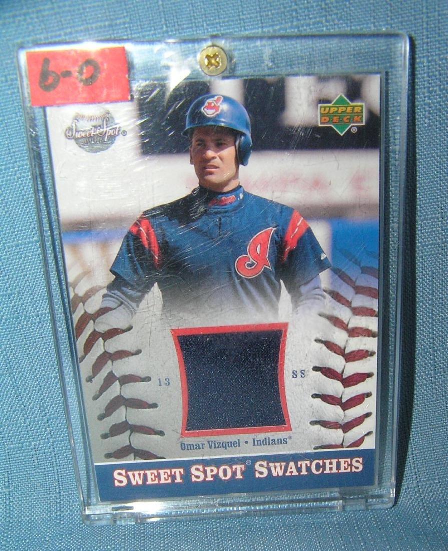 Omar Vizquel game used uniform material baseball card