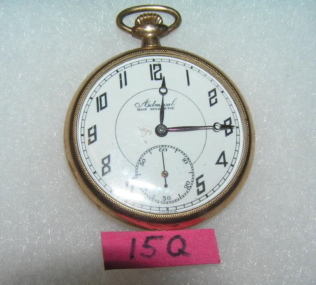 Admirel gold filled 6 jewel gentleman's pocket watch