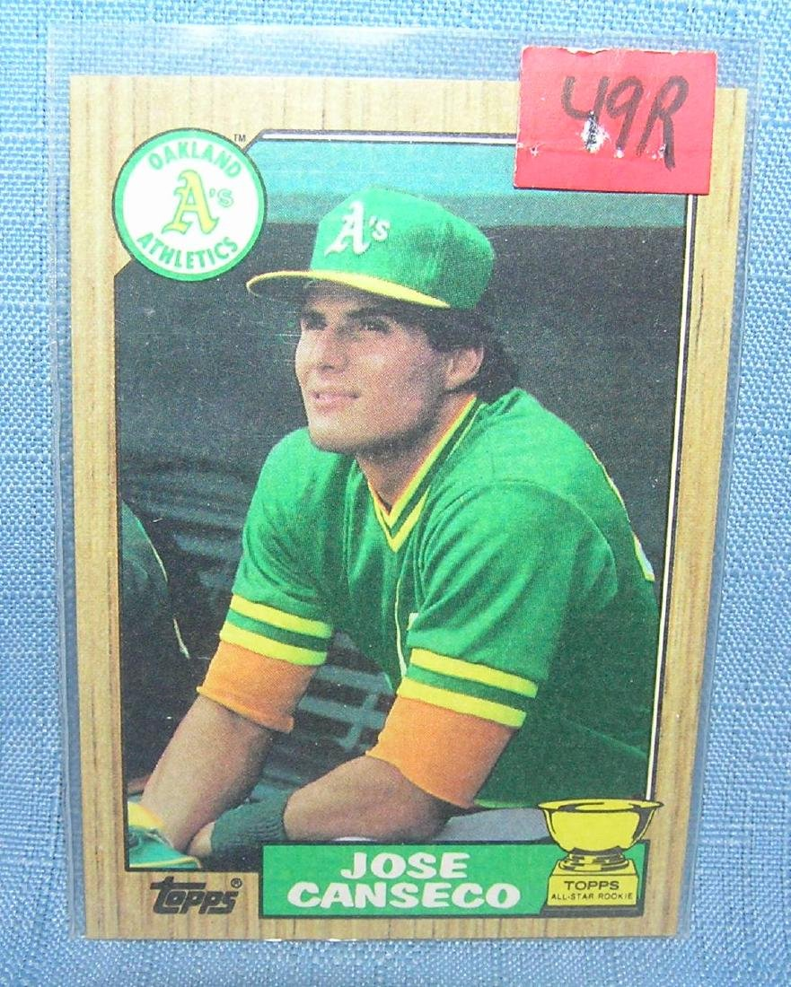 Jose Canseco Rookie Baseball Card Jun 29 2019 Bakers Antiques