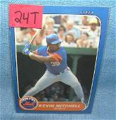 Kevin Mitchell rookie baseball card