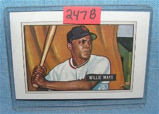 Willie Mays 1952 Bowman Baseball Card Feb 24 2018 Milestone