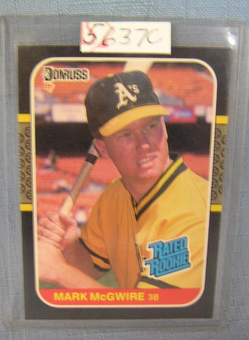 Mark Mcgwire Rookie Baseball Card Jul 16 2019 Bakers