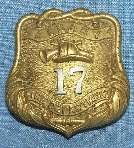 Antique Albany Ny Firemans Badge Jul 18 2019 Bakers Antiques