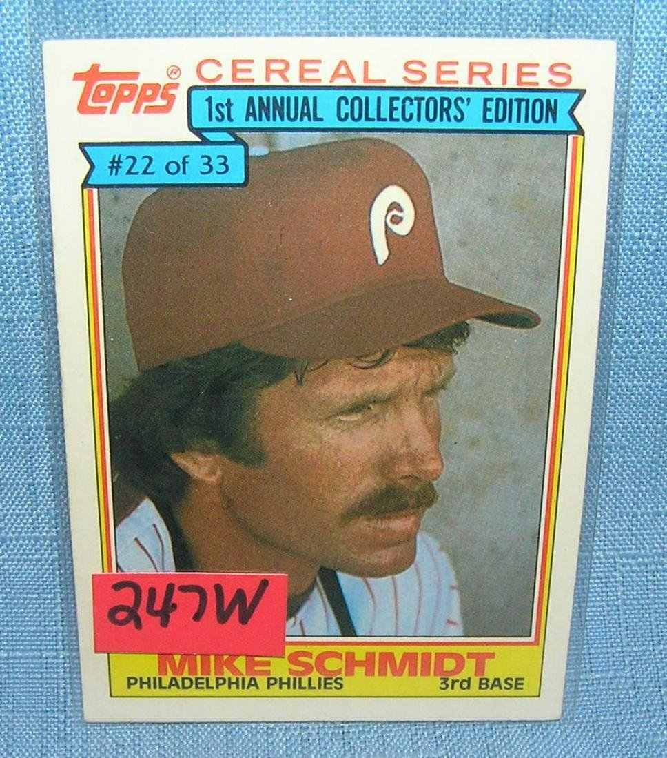 Mike Schmidt Baseball Card Jul 28 2019 Bakers Antiques