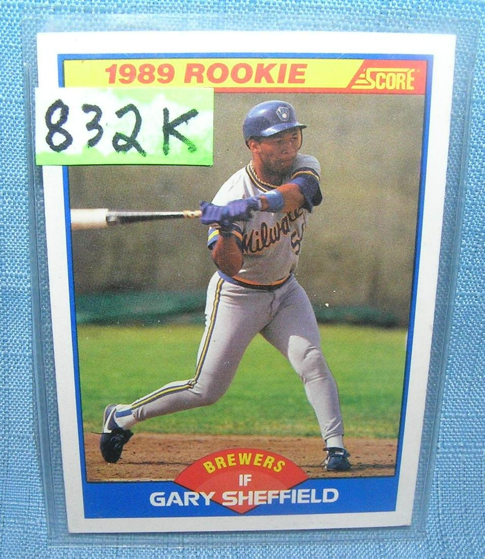 Gary Sheffield Rookie Baseball Card Aug 07 2019 Bakers