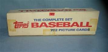 1986 Topps baseball card set