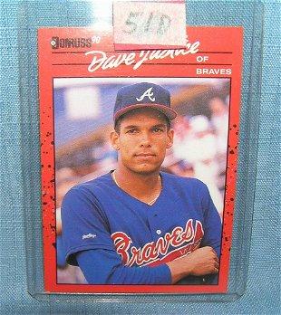 Atlanta Braves David Justice Portrait Dick Perez Jul 18 2018