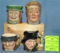 Group of English Toby mugs includes Royal Dalton