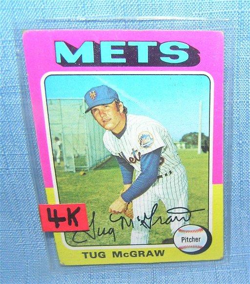 Vintage Tug Mcgraw Ny Mets All Star Baseball Card Aug 16 2019