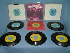 Collection of vintage Rolling Stones 45 RPM records