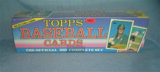1989 Topps Factory Sealed Baseball Card Set Aug 10 2019 Bakers