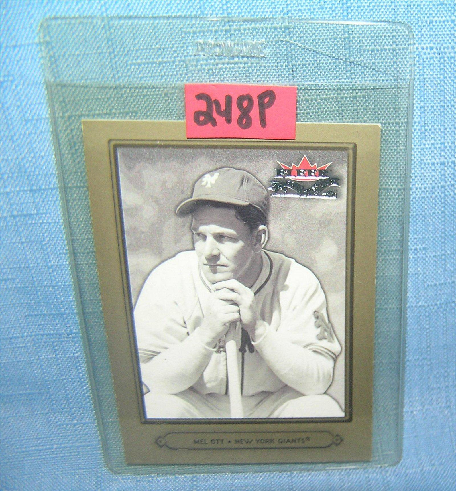 Mel Ott Retro Style Baseball Card Aug 11 2019 Bakers Antiques