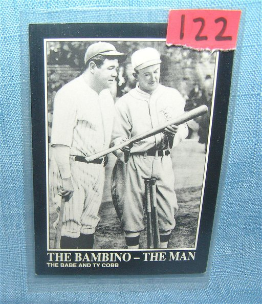 Babe Ruth And Ty Cobb All Star Baseball Card