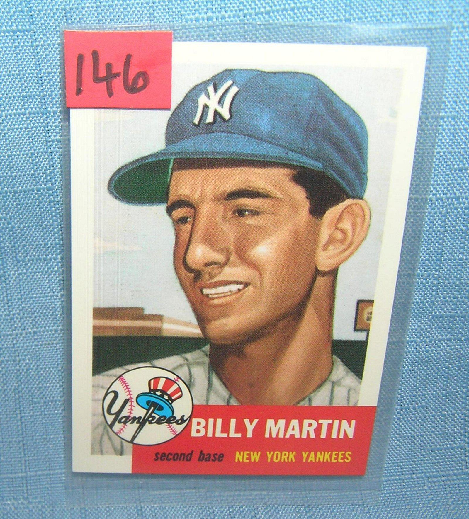 Billy Martin All Star Retro Baseball Card Aug 16 2019