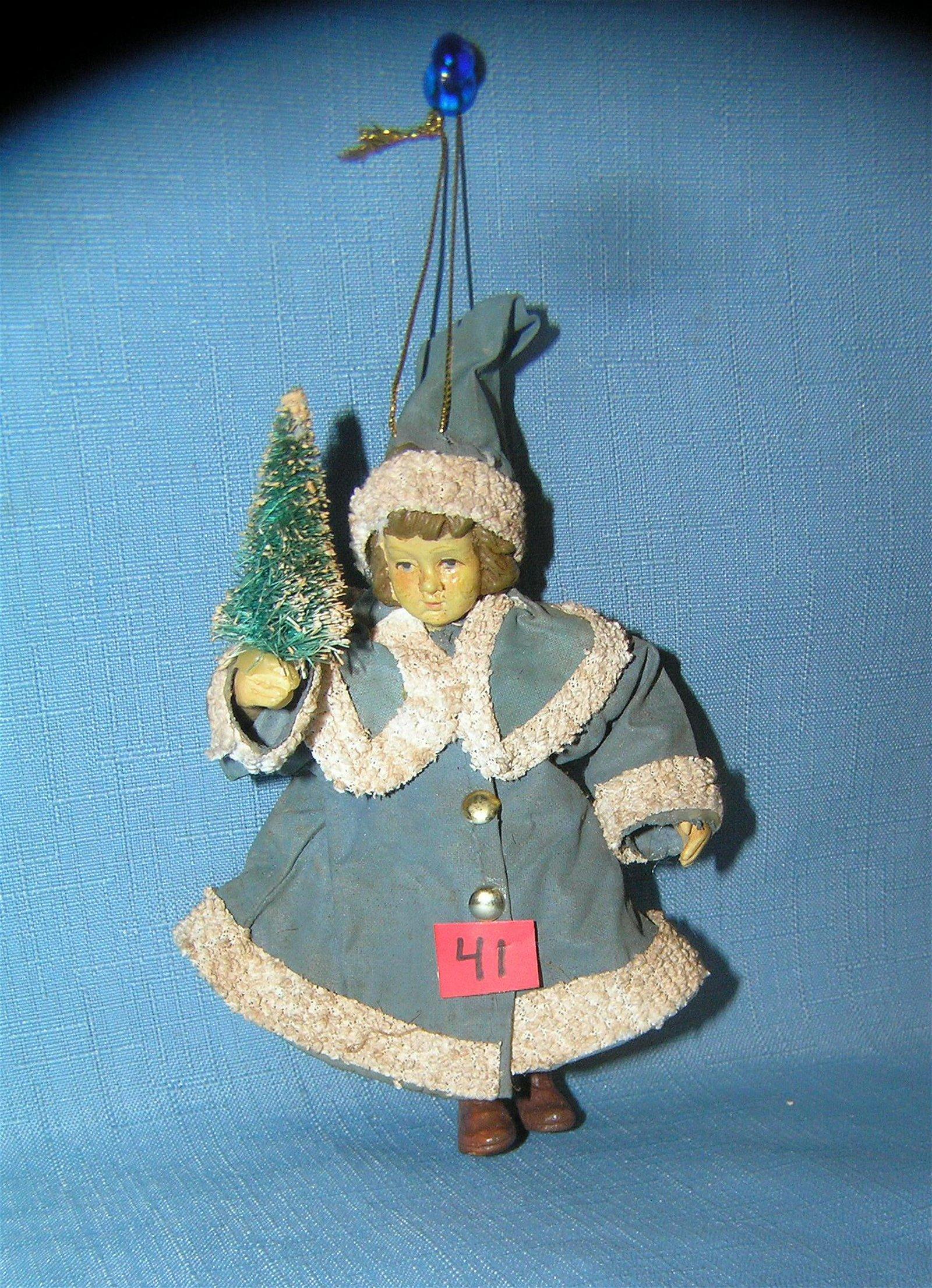 Girl with Christmas tree Christmas ornament