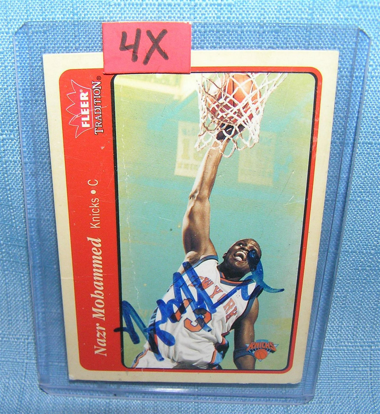 Nazr Muhammed autographed all star basketball card