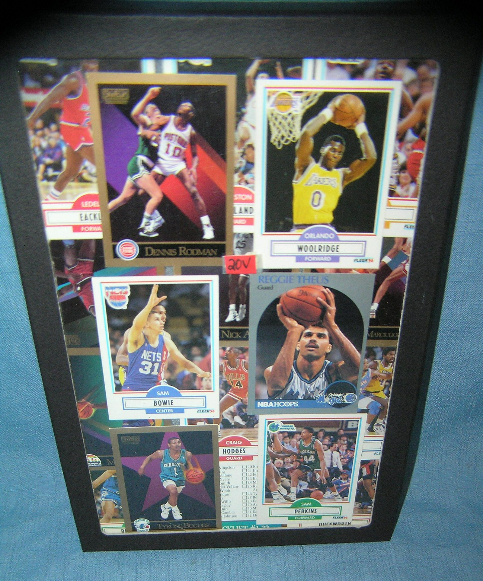 Collection of vintage basketball cards