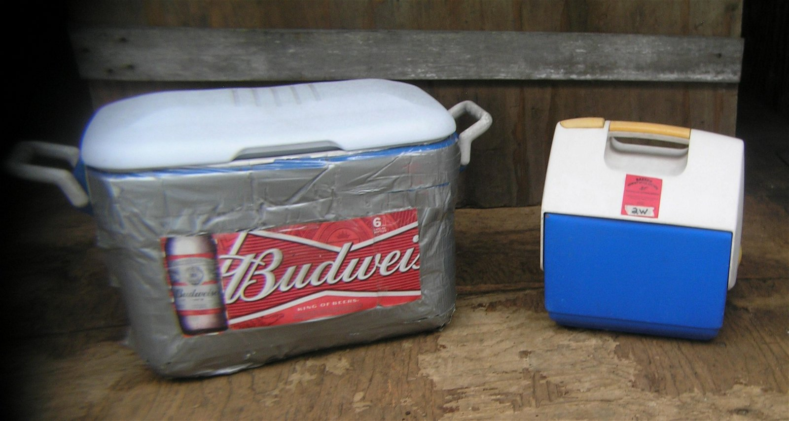 Pair of beach, barbeque or camping coolers