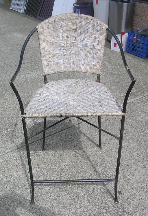 Wrought Iron And Wicker Chair Aug 24 2019 Baker S