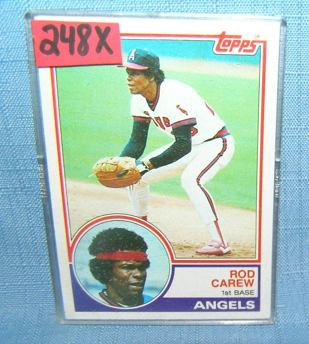 Rod Carew vintage Topps baseball card