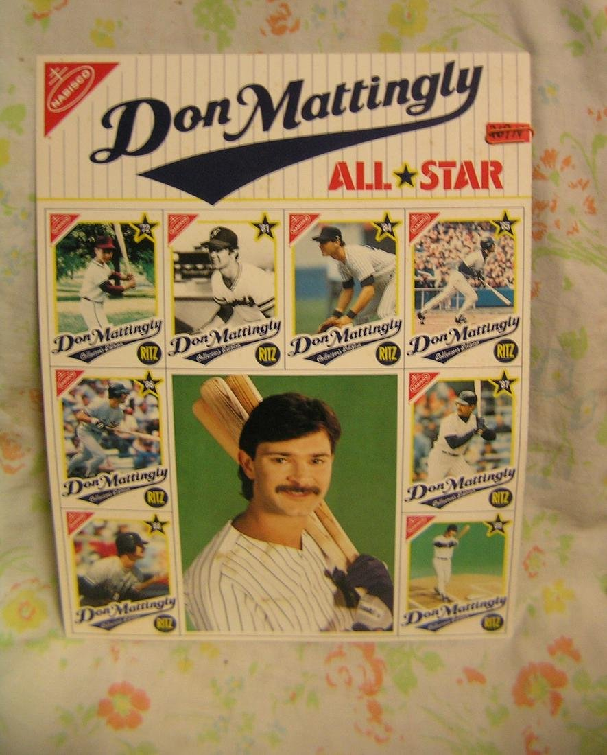 Don Mattingly photo and baseball card uncut sheet