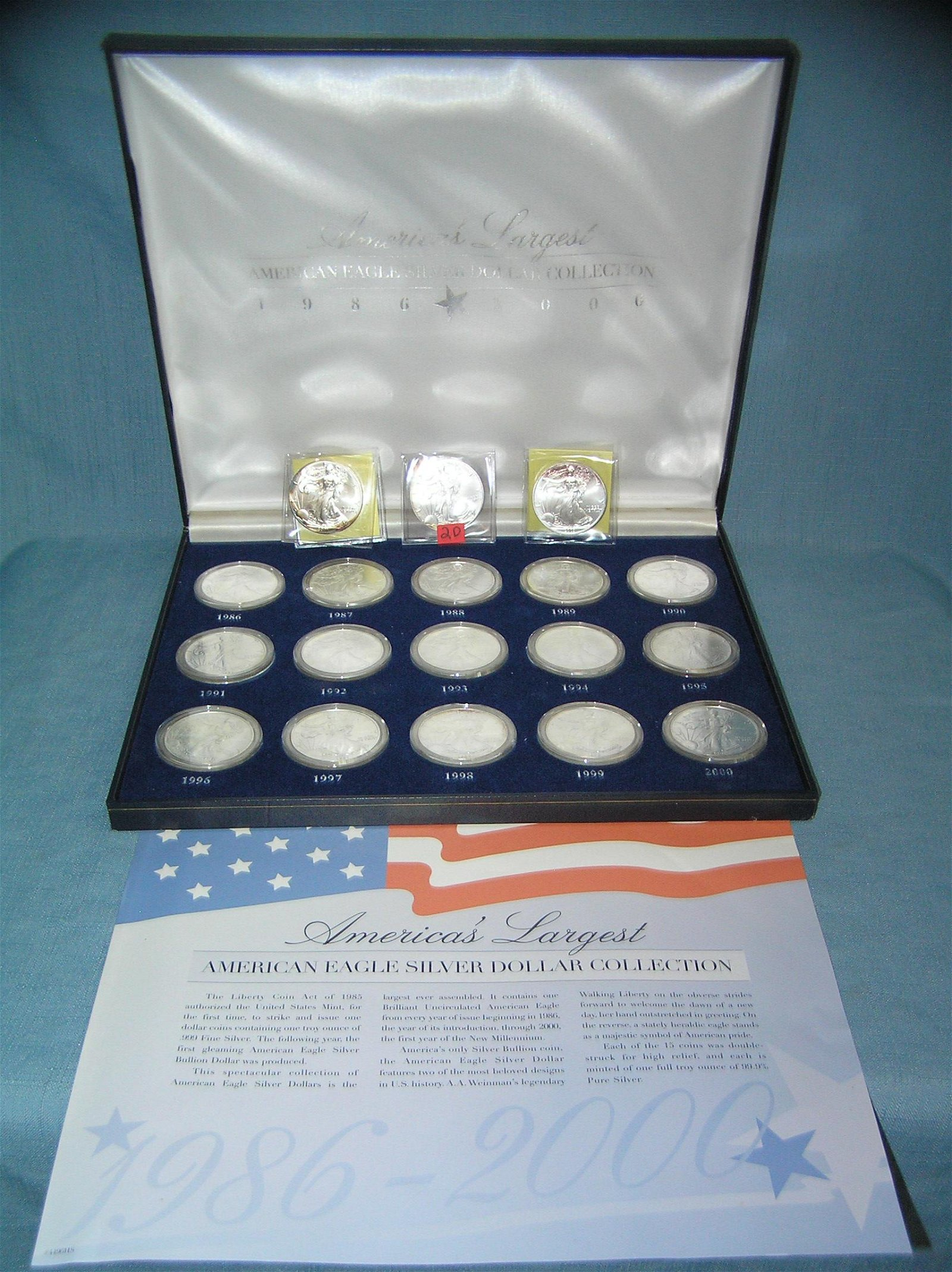 America's largest American silver dollar collection
