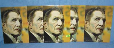 Vincent Price color photo horror cards