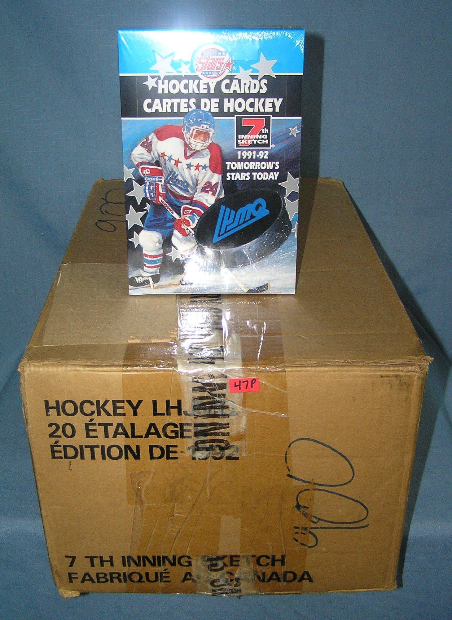 Large box of vintage hockey cards