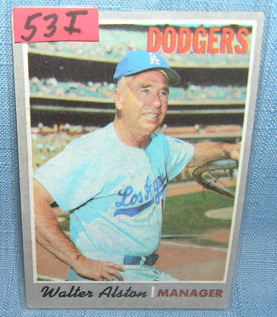 Vintage Walter Alston 1970 Topps baseball card