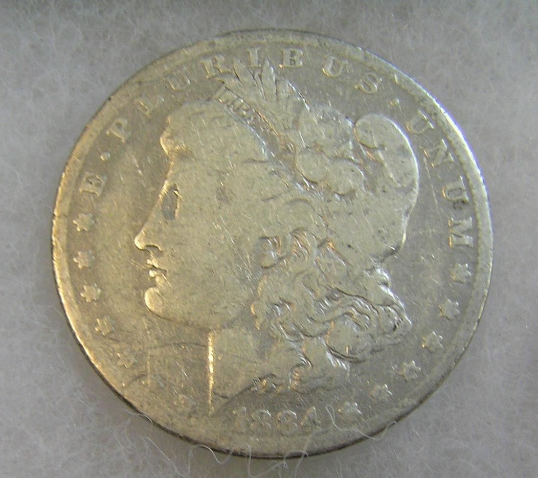 1884-O Morgan silver dollar in good condition