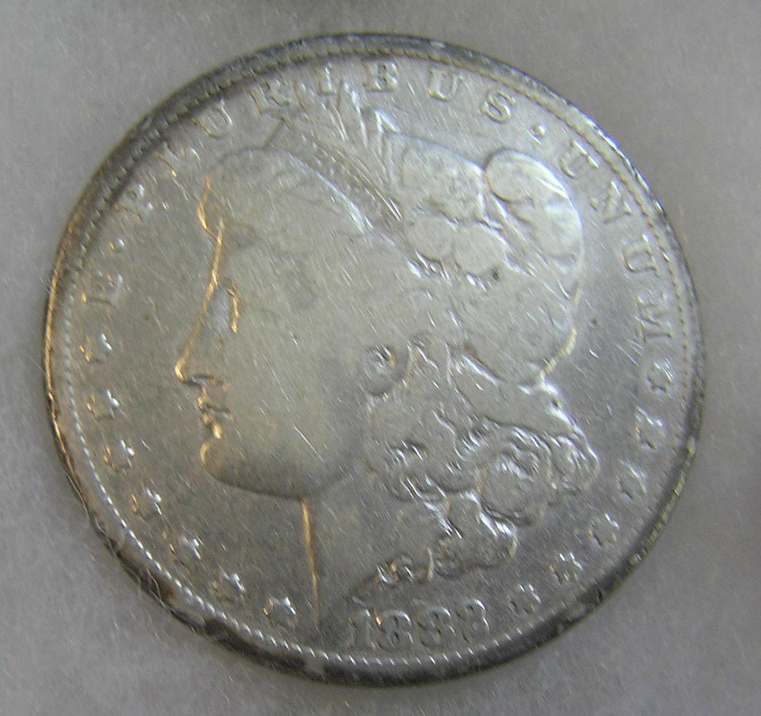 1882 Morgan silver dollar in very good condition